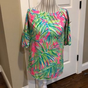 Lilly Pulitzer kids tiki pink top, new with tags